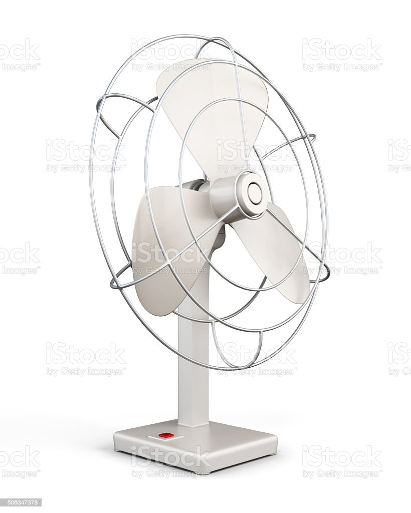 Table fan. 3d rendering. stock photo