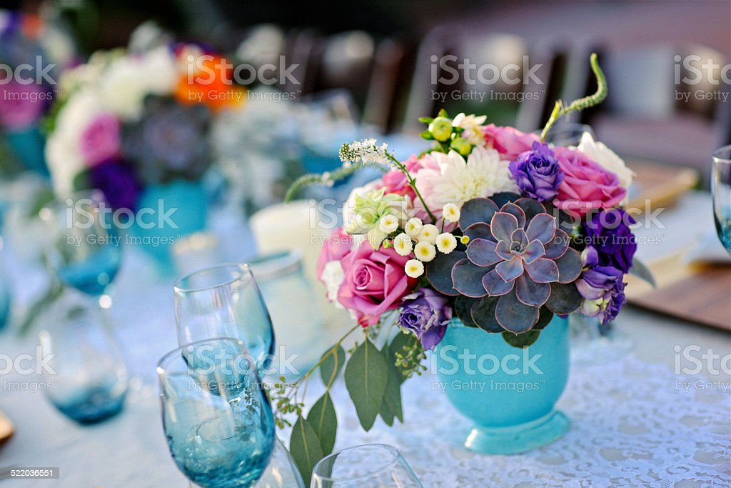 Table Floral Arrangement for an Event or Wedding stock photo