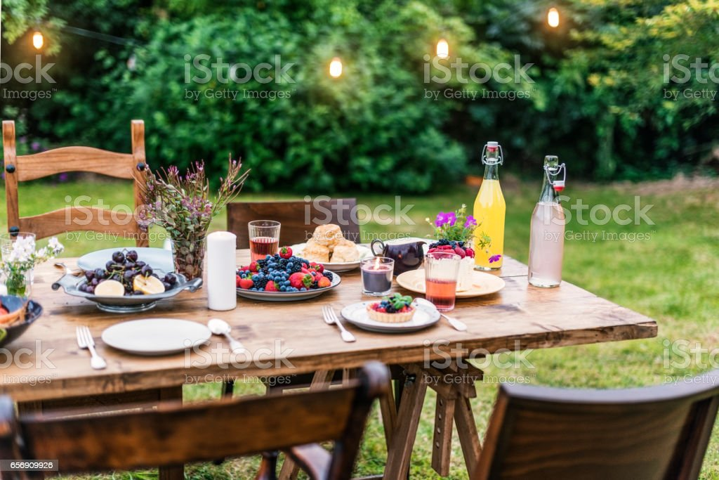 Table Food Lunch Variety Concept stock photo