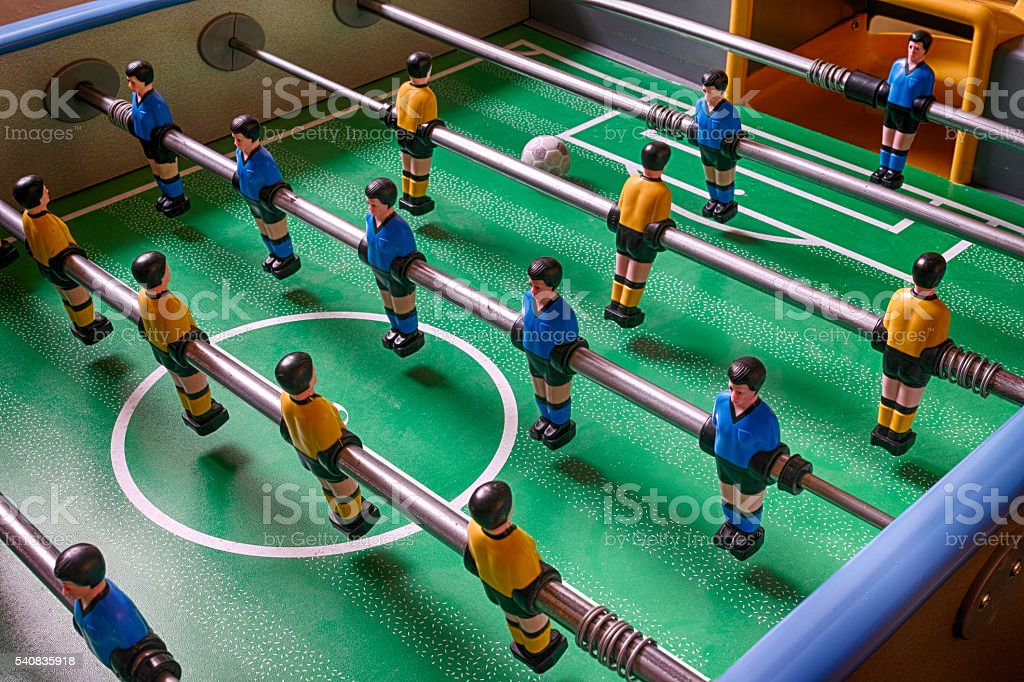 Table football game royalty-free stock photo