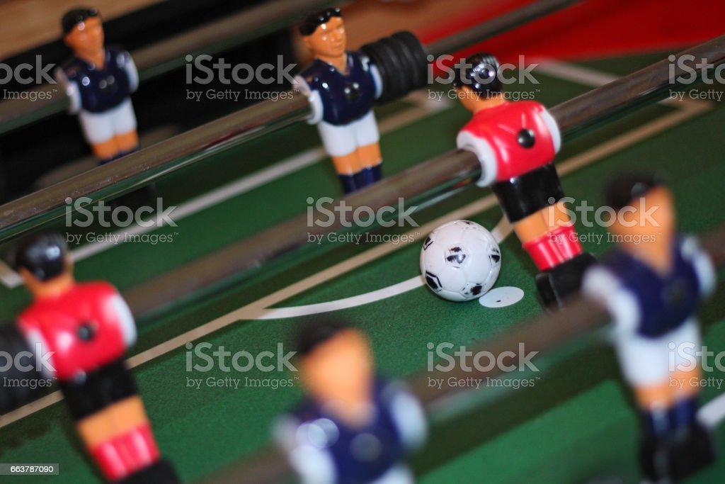 Table football penalty kick taker stock photo