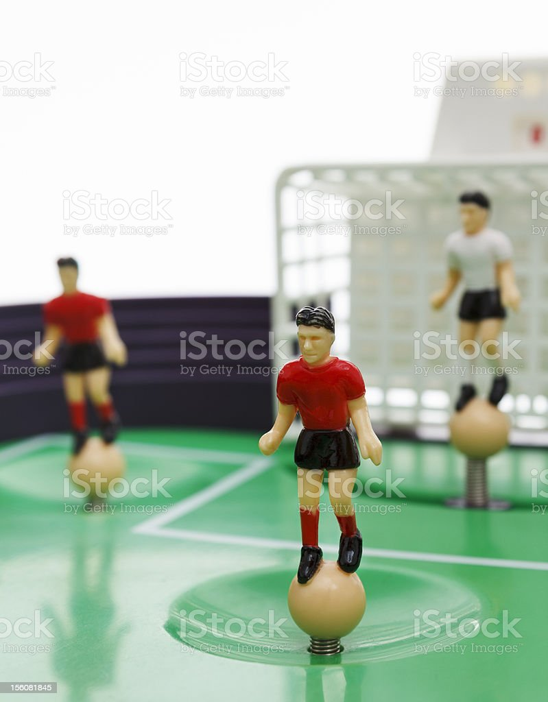 Table football players royalty-free stock photo