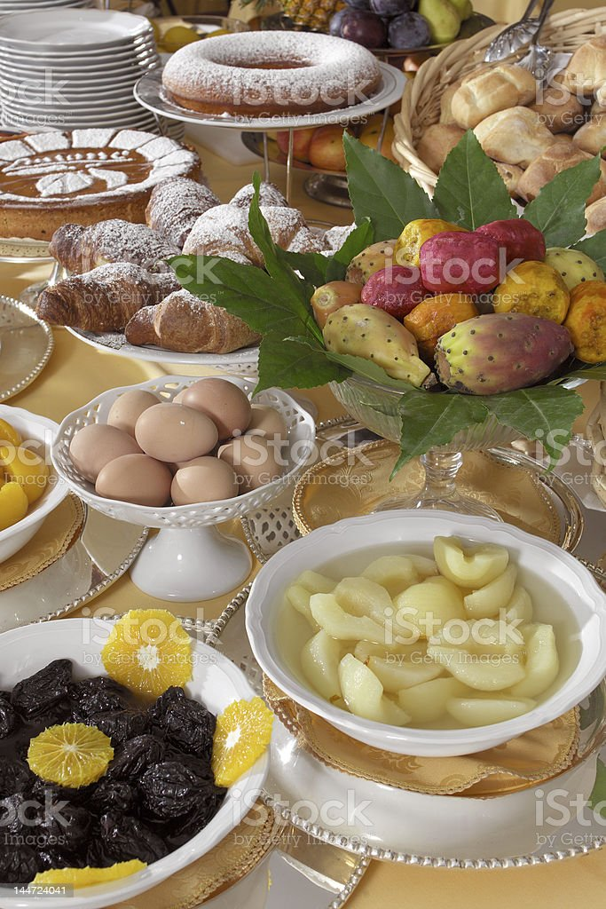 table for breakfast royalty-free stock photo