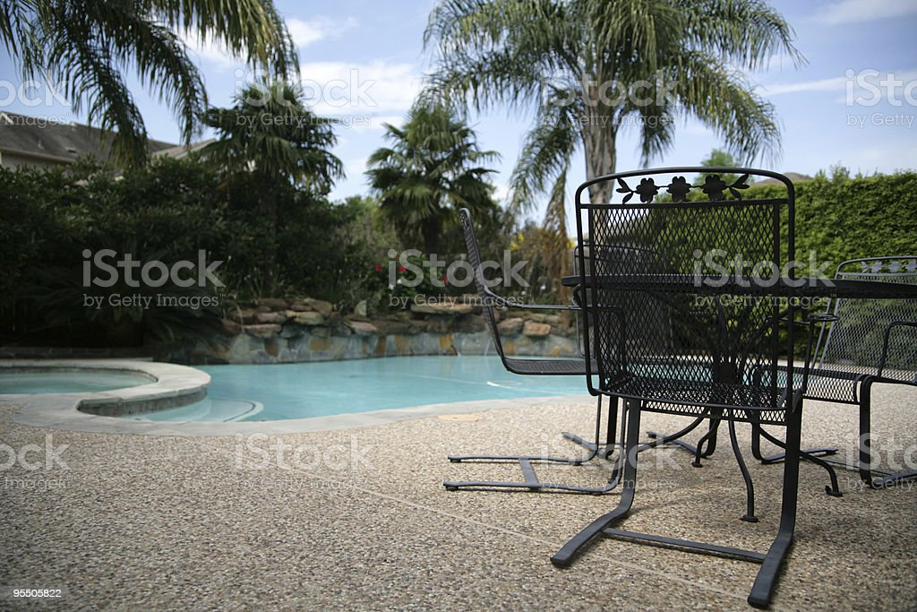 Table for four, outside please stock photo