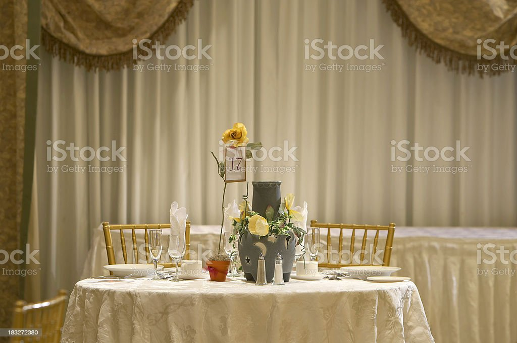 Table for two guests royalty-free stock photo