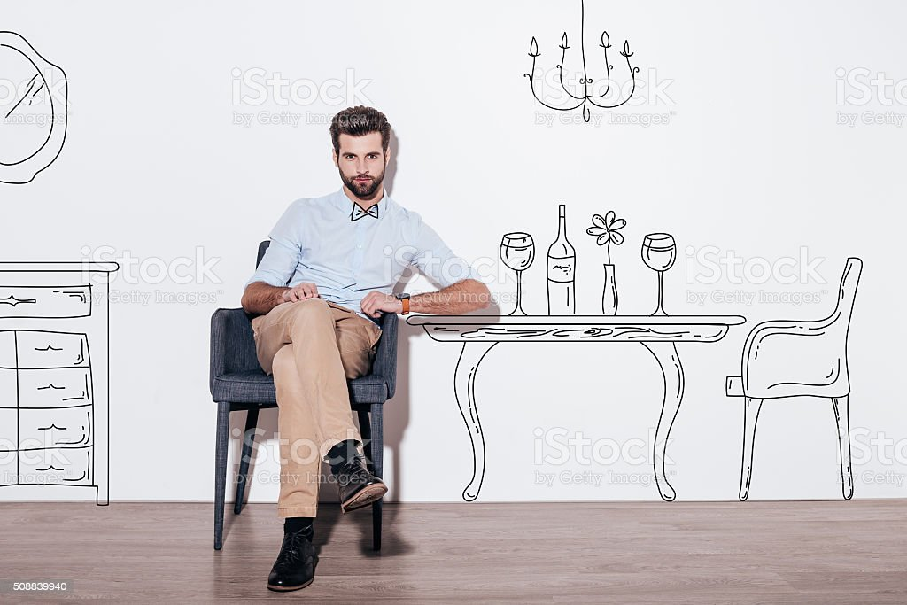 Table for two. stock photo