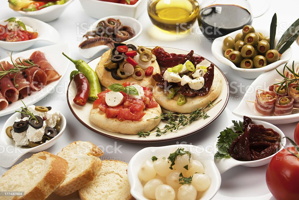 Table full of appetizers royalty-free stock photo