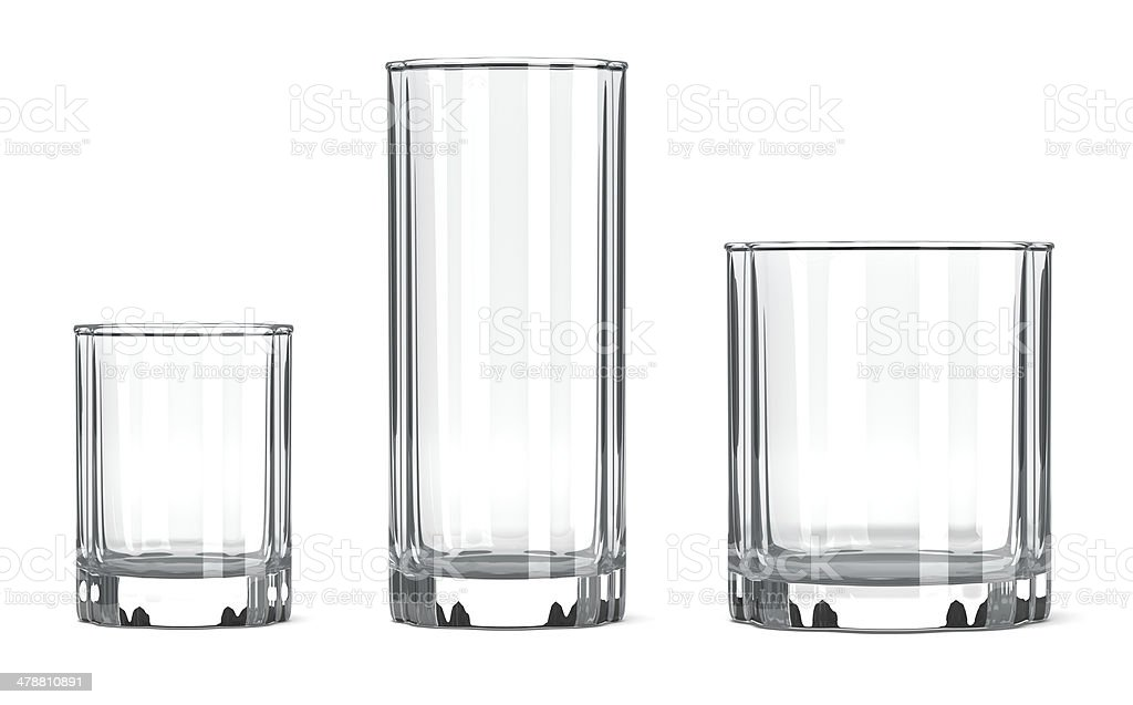 Table Glass Set royalty-free stock vector art