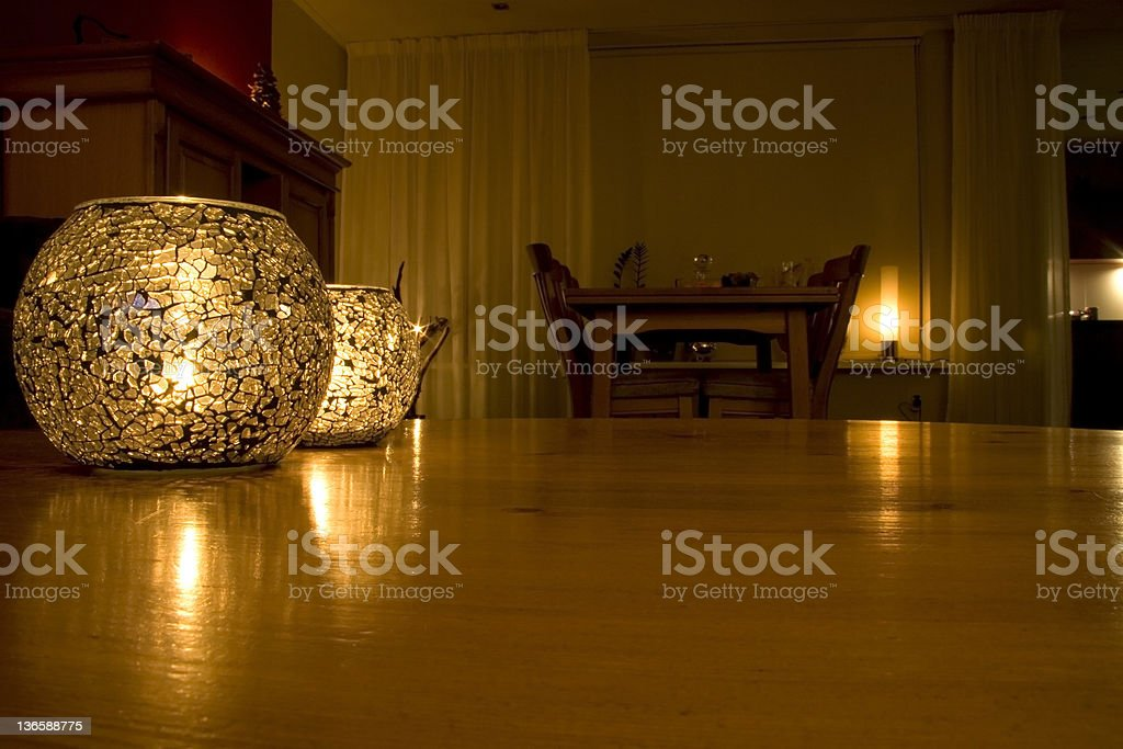 table in a chamber stock photo