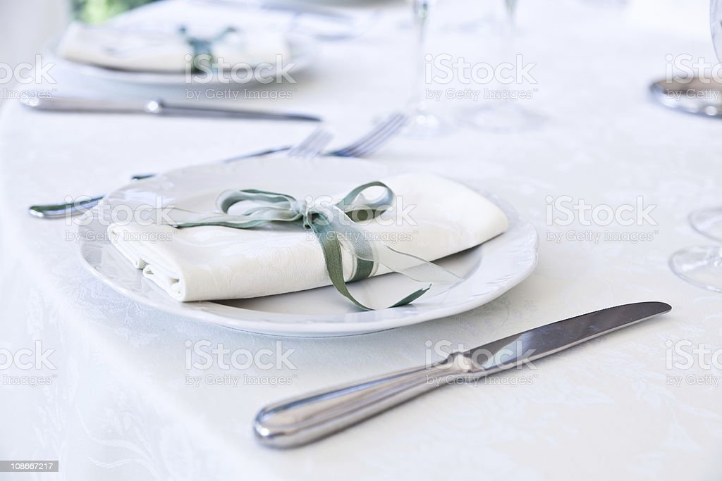 Table in a Restaurant royalty-free stock photo