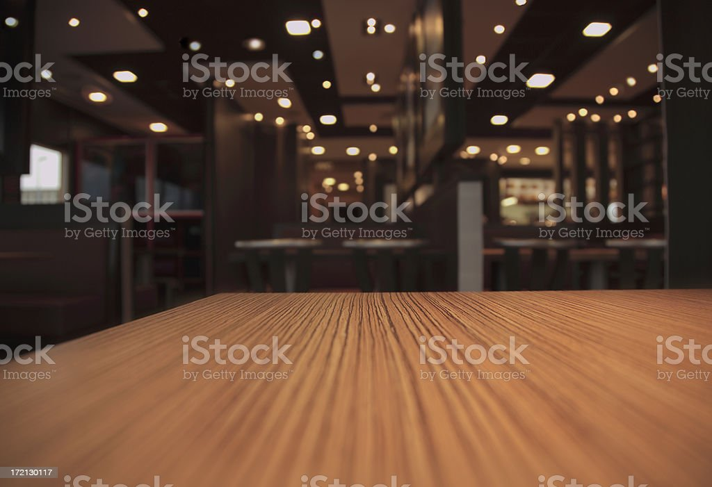 Table in a Restaurant stock photo