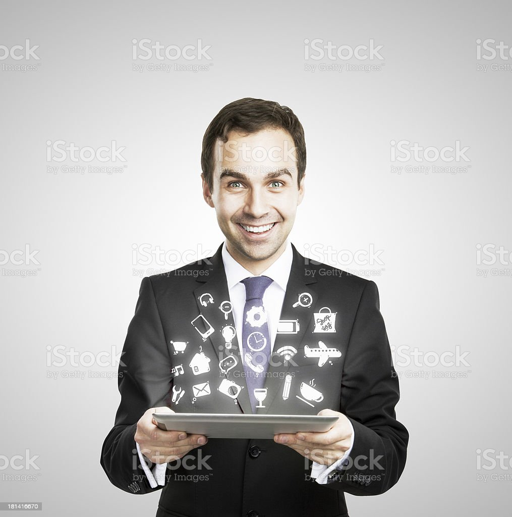 table in hand royalty-free stock photo
