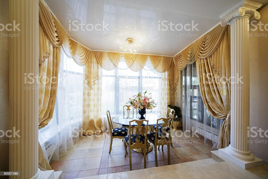 table in modern flat royalty-free stock photo