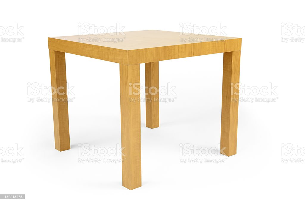 Table Isolated stock photo