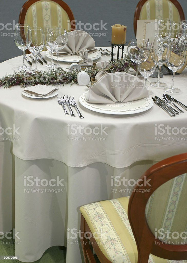 Table just waitin for guests stock photo