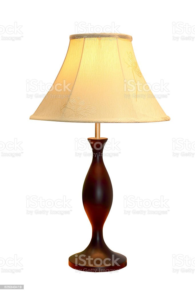 table lamp isolated on white background stock photo