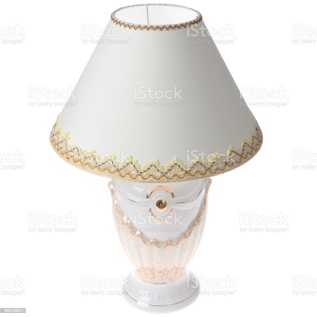 Table lamp isolated stock photo
