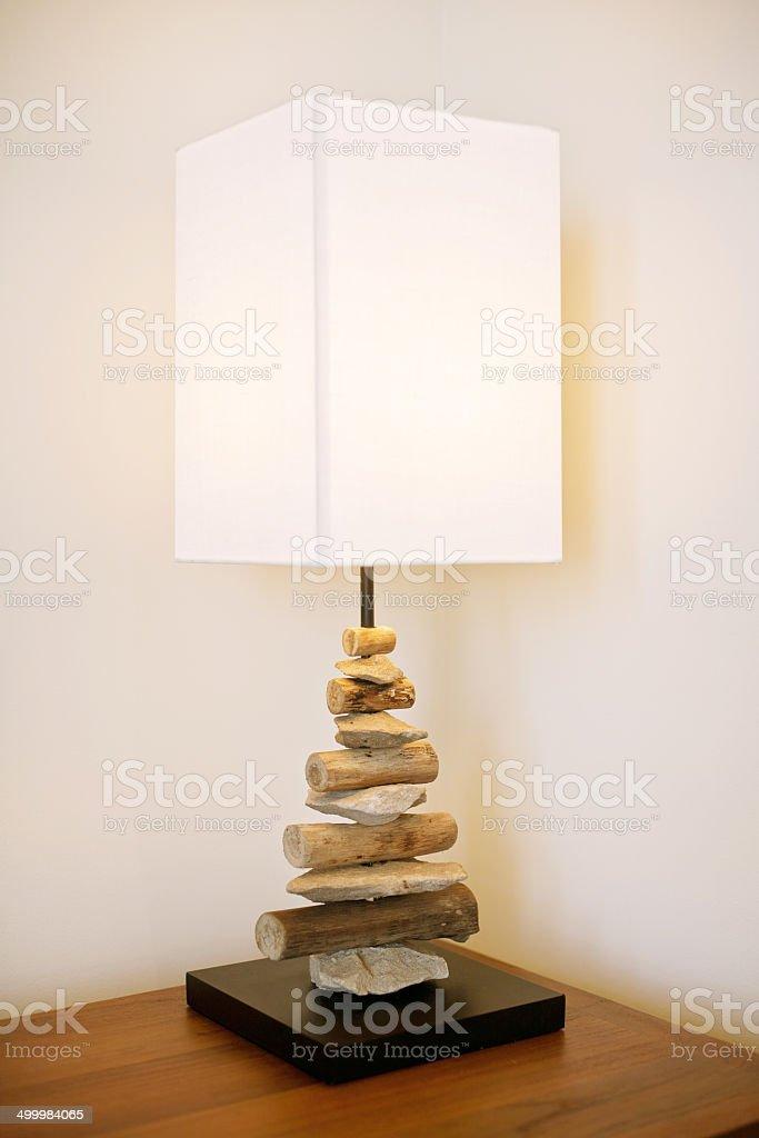 Table lamp modern design stock photo