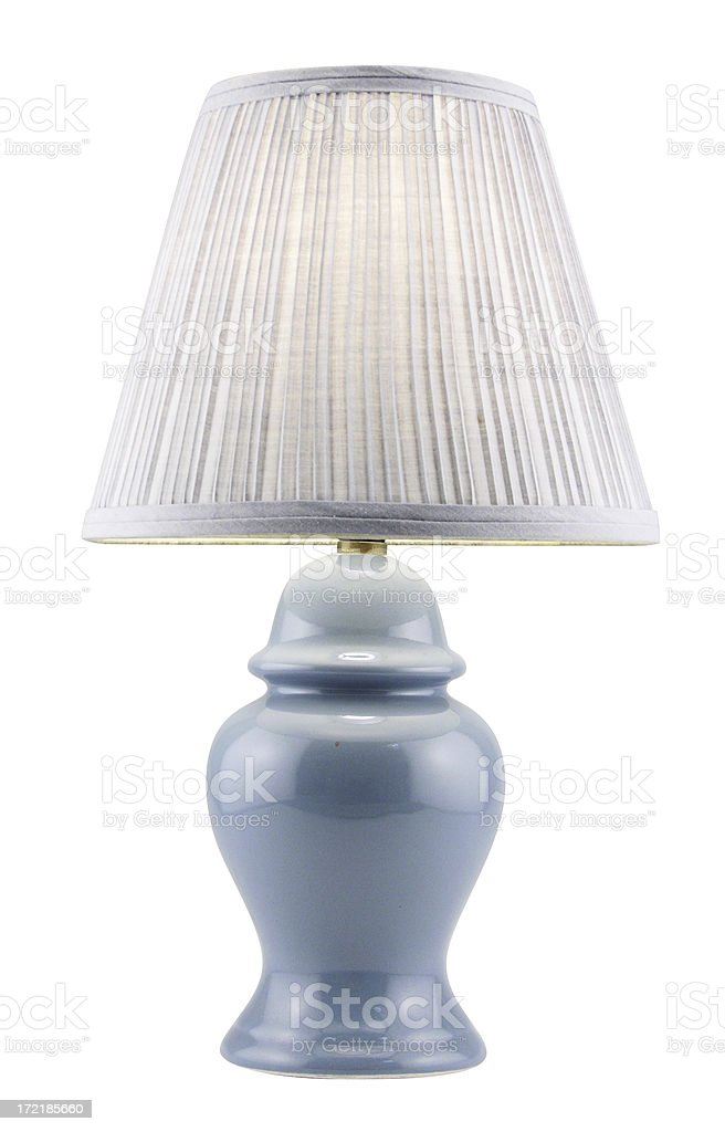 Table lamp with clipping path royalty-free stock photo