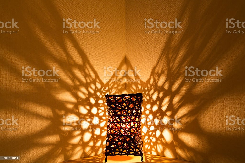 Table Lamp  with Unique Illumination Effects stock photo