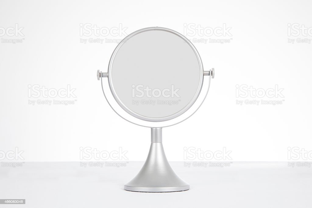 table mirror stock photo