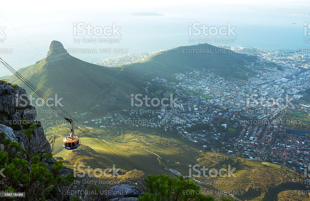 Table Mountain Aerial Cableway stock photo