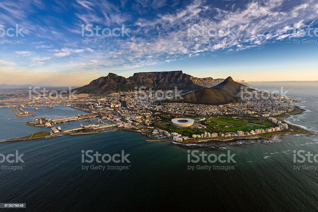 Table Mountain aerial stock photo