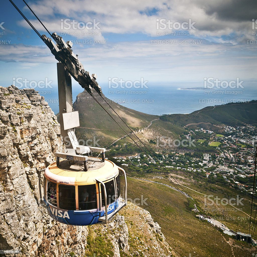 Table Mountain Cable Car Cape Town stock photo