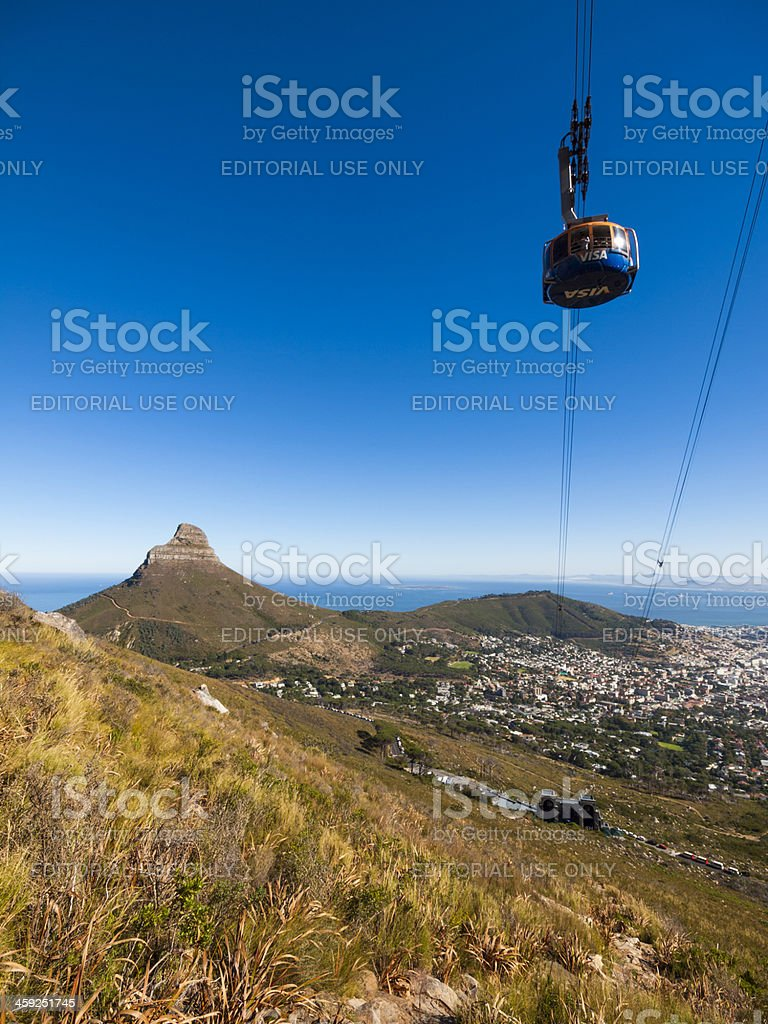 Table Mountain cable car, South Africa royalty-free stock photo
