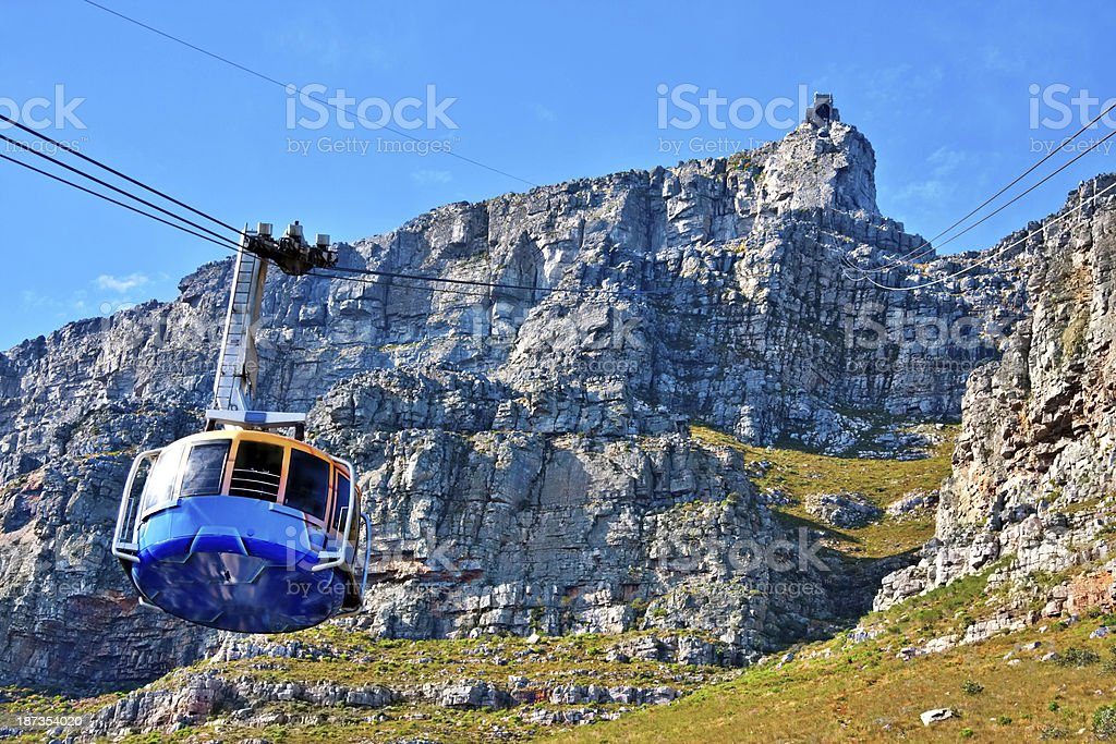 table mountain cable way stock photo