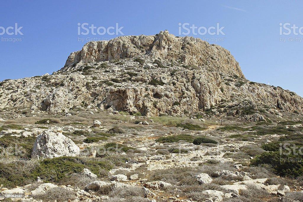 Table mountain, Cape Greko, Cyprus stock photo