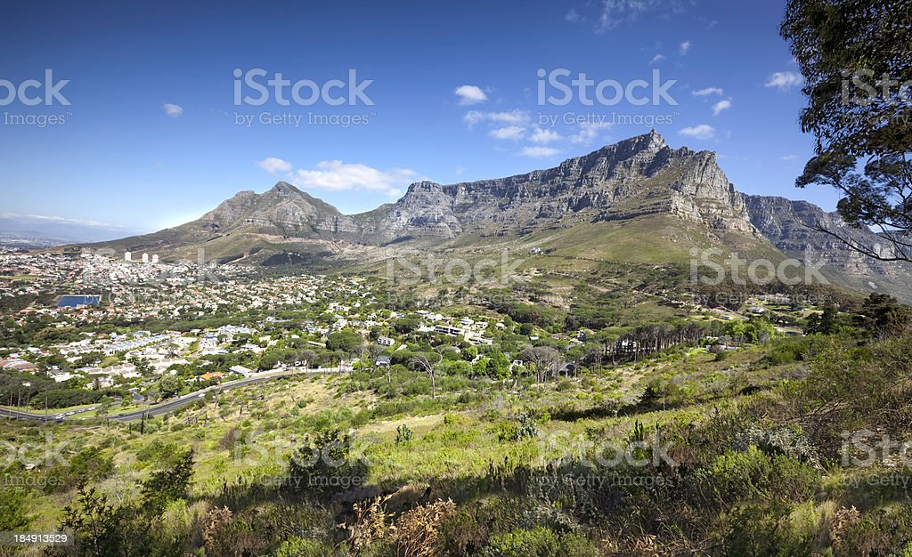 Table Mountain, Cape Town stock photo