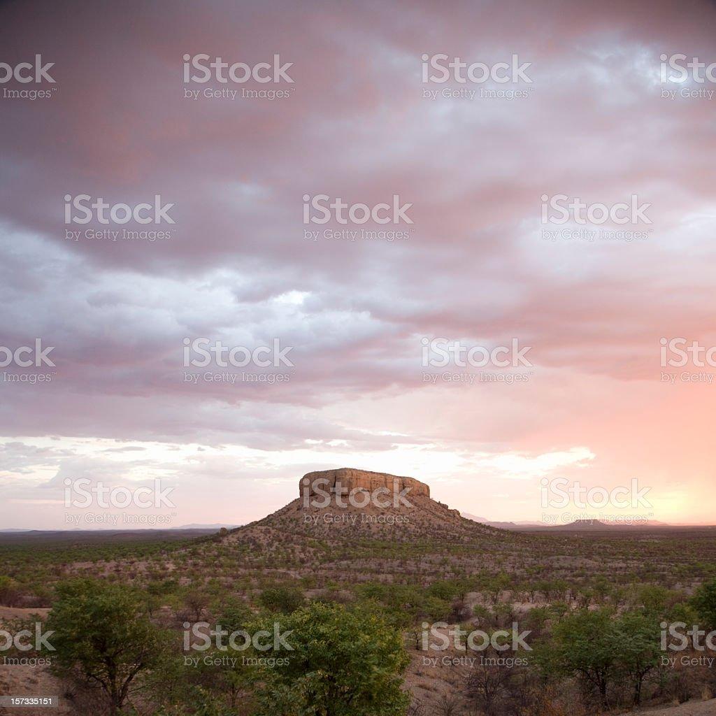 Table Mountain Darmaland Namibia Twilight royalty-free stock photo