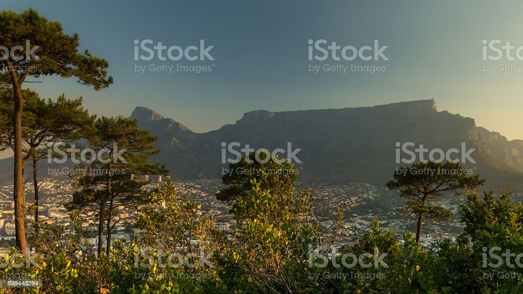 Table Mountain From Signal Hill stock photo