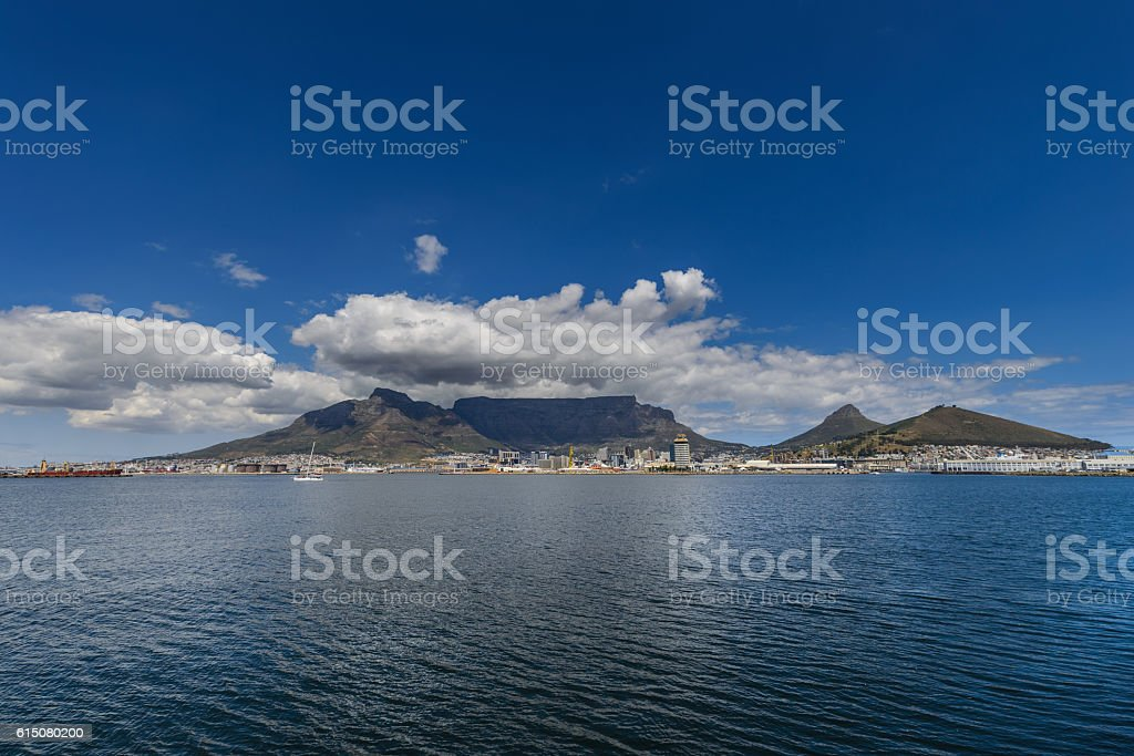 Table Mountain harbor stock photo