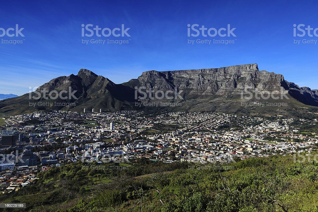 Table Mountain in Cape Town royalty-free stock photo