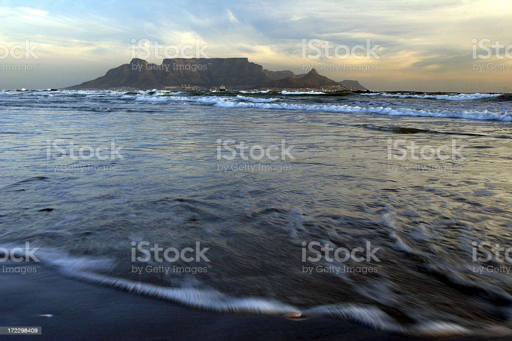 Table Mountain Seascape stock photo