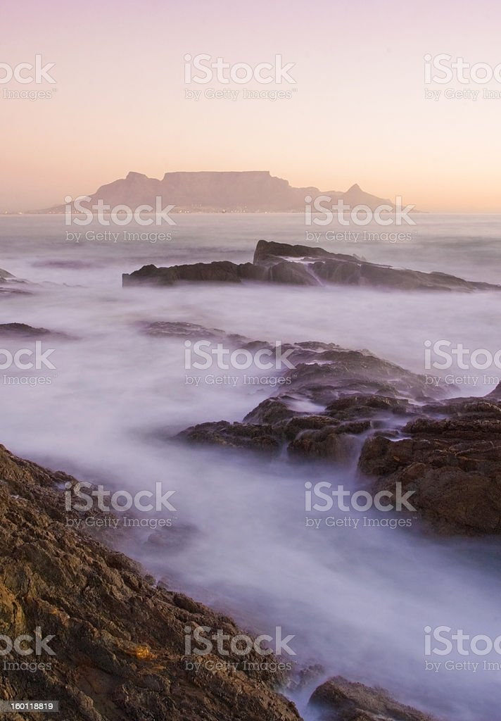 Table Mountain, South Africa royalty-free stock photo