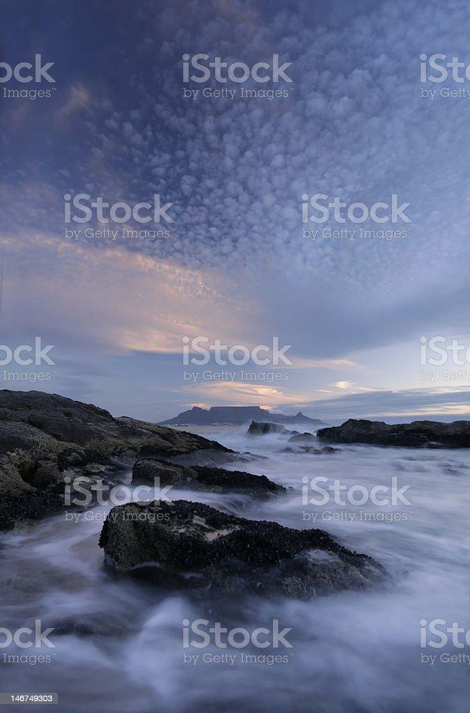 Table Mountain through the gap royalty-free stock photo