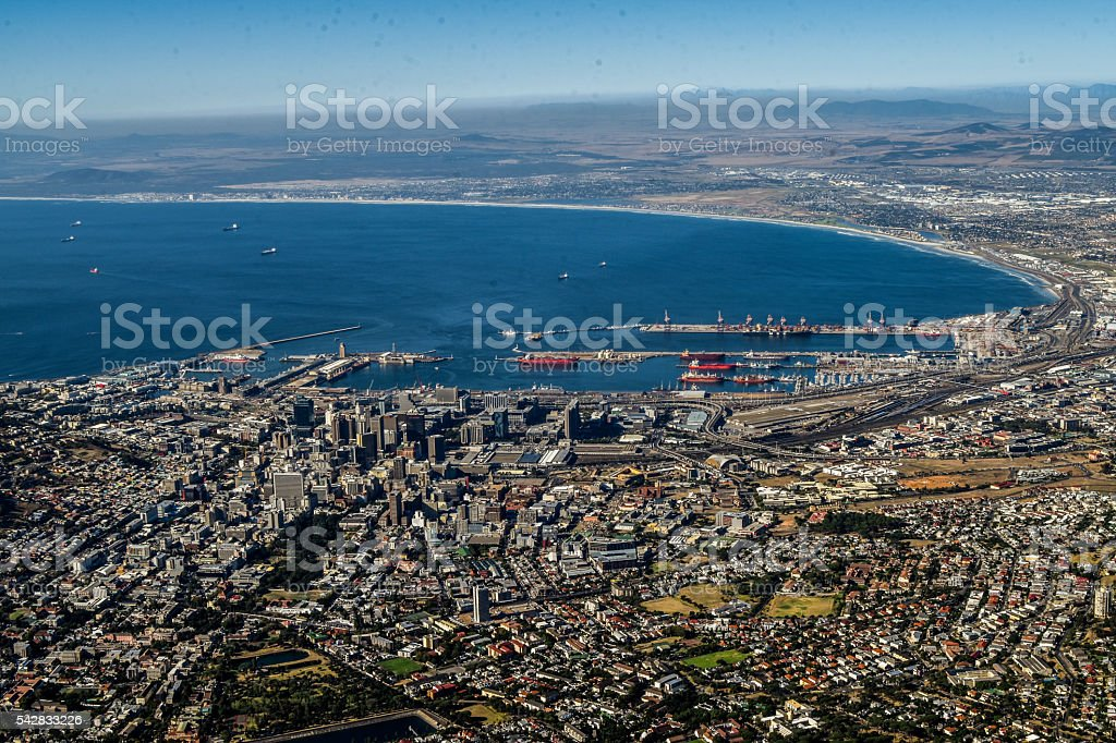 Table Mountain View of Cape Town stock photo