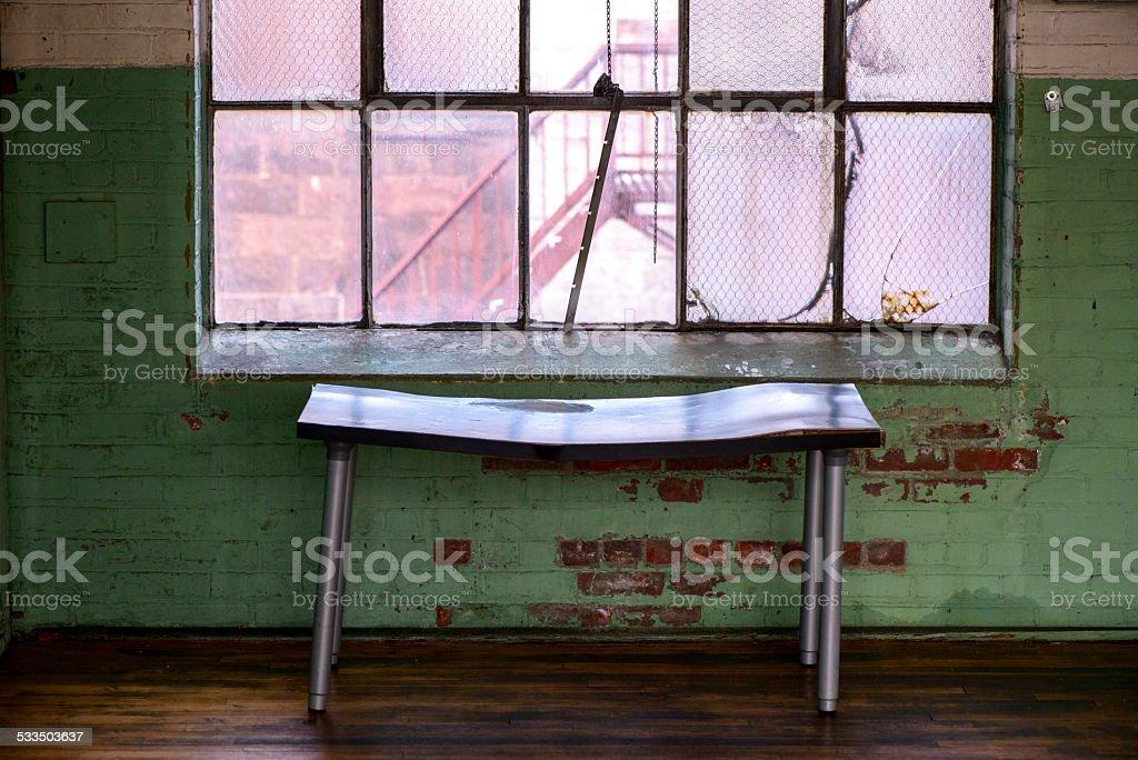 Table Near the Window stock photo