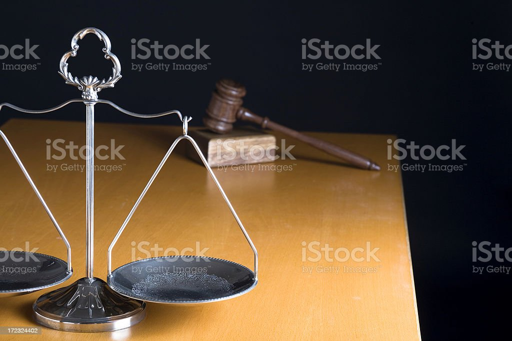 Table of a judge royalty-free stock photo