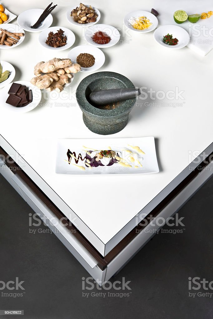 table of food ingredients royalty-free stock photo