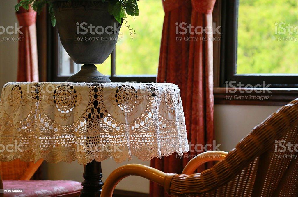 Table of the window foto de stock libre de derechos