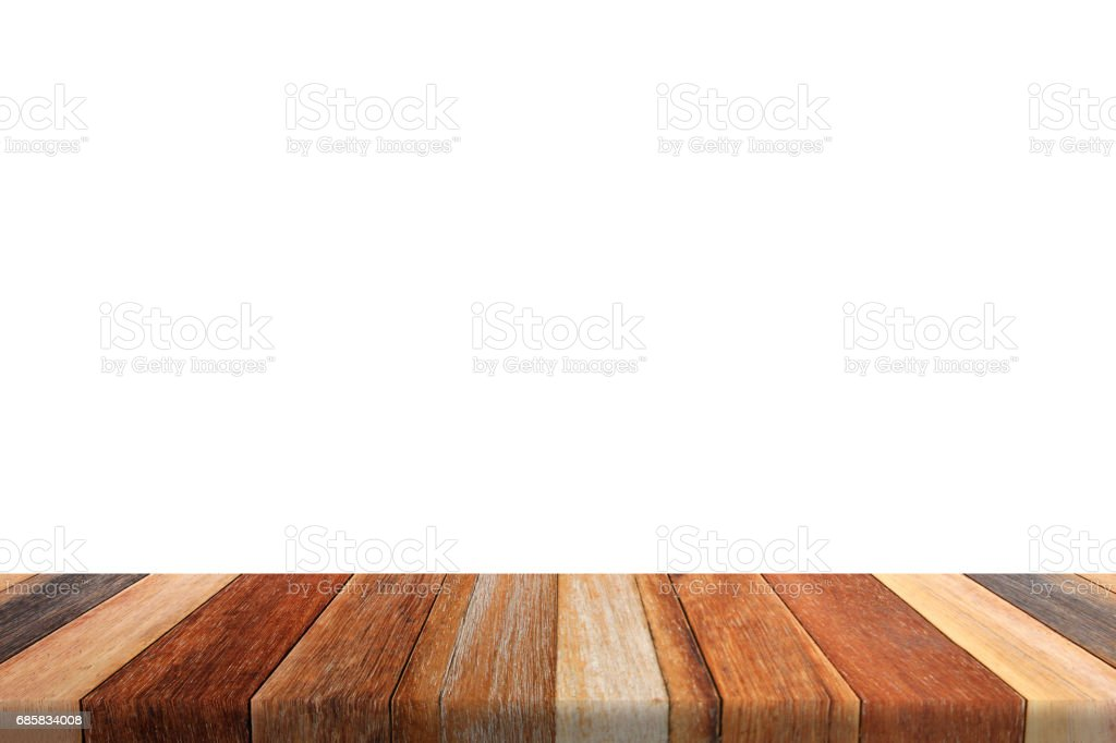 Table on white background stock photo