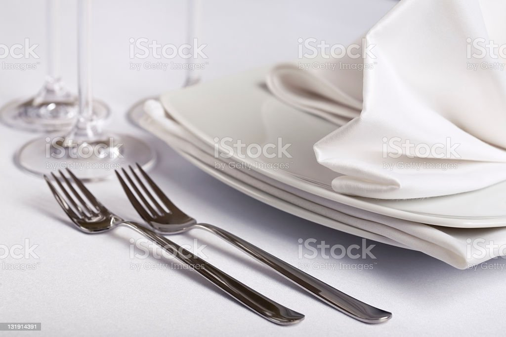 Table Place Setting arrangement royalty-free stock photo
