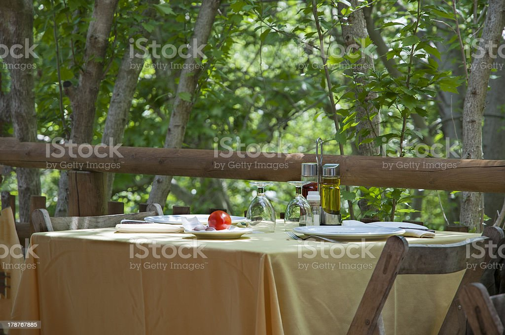 table prepared royalty-free stock photo