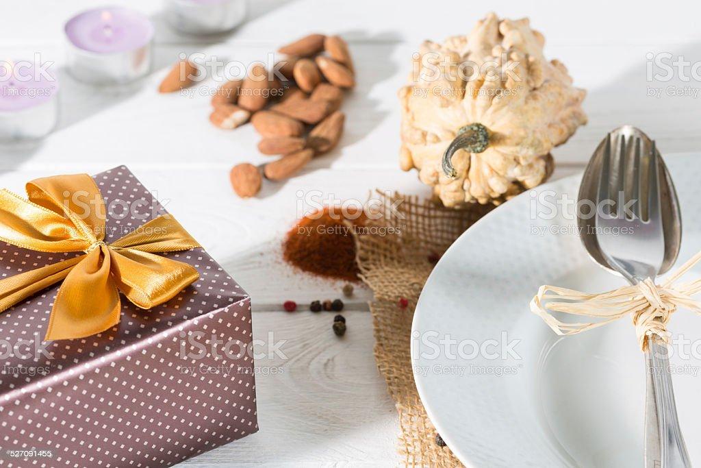 Table prepared stock photo