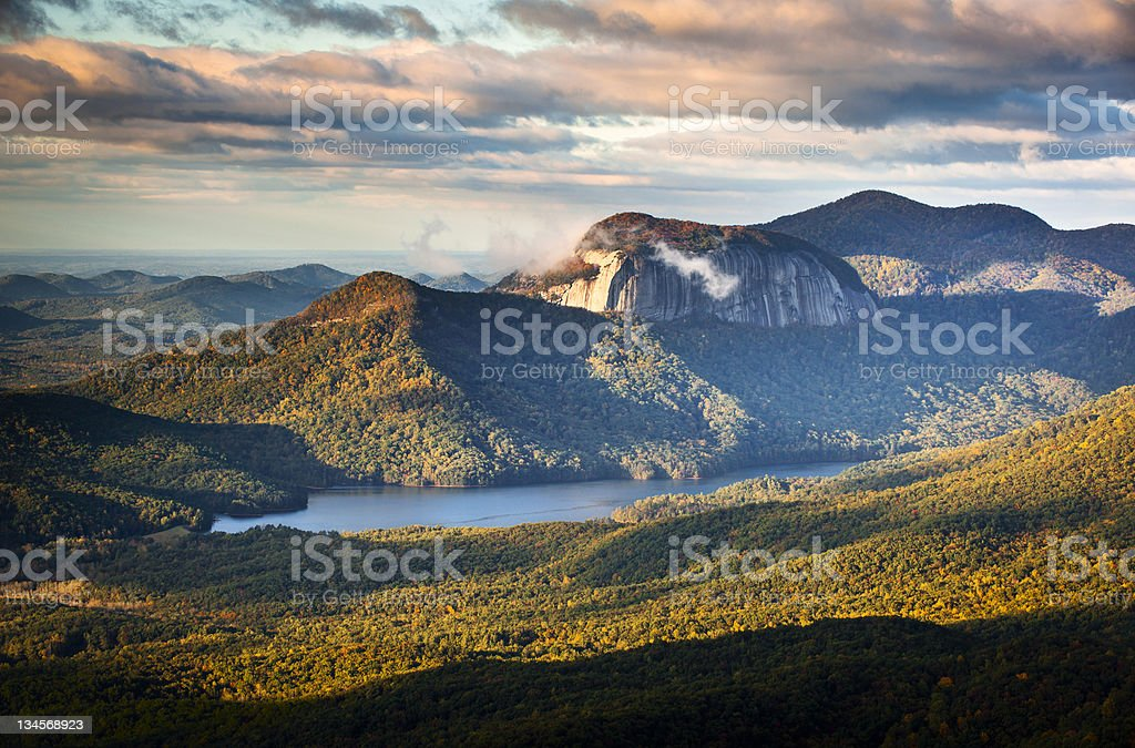 Table Rock State Park South Carolina Blue Ridge Mountains Landscape stock photo
