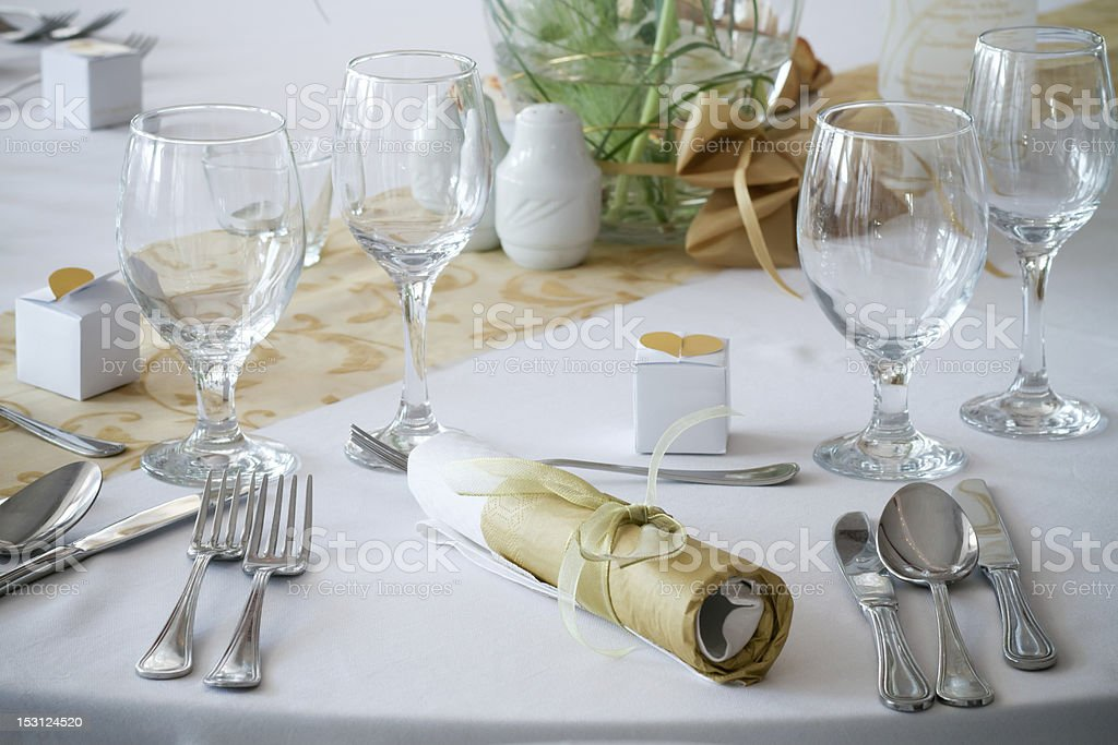table set for an event party royalty-free stock photo
